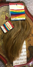 "#Light Brown 'My Hair' Collection Yaki (Human Hair) 12"" Extension Sew In New"