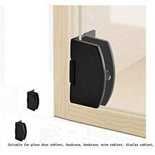 Qiao 2Pieces Cabinet Glass Door Hinge Bathroom Clip Frameless Display 90 Degree
