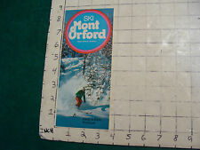 Vintage High Grade SKI BROCHURE: QUEBEC--SKI MONT ORFORD Quebec 1974