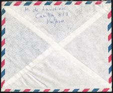 187 CHILE TO US AIR MAIL COVER 1980 DIEGO PORTALES  VINA DEL MAR - NEWART, DE