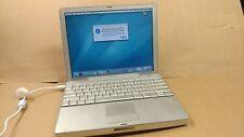 "Vintage Apple 12"" PowerBook G4 A1104 Laptop 1.5GHz 512MB  80GB HD Mac OS X Tiger"
