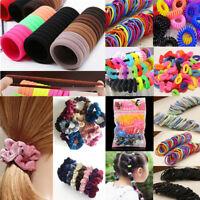 100pcs Women Fashion Hair Ties Ponytail Holder Elastic Rope Head Band Hairbands