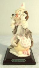 "G. Armani Florence Italy Figurine Little Treasures Clown Pink 5.5"" Vtg 1987 Euc"