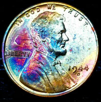 """1944-D Lincoln Wheat Penny Cent- """"Beautifully Toned"""" VERY CHOICE++ GEM++ BU++ 02"""