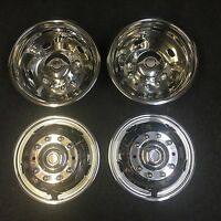 """Set of 19.5"""" Stainless Dually Wheel Simulators For 05-20 Ford F450 F550 10 lug"""