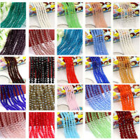 NEW 196pcs 2mm DIY Glass Crystal Faceted Rondelle Spacer Beads Jewelry Findings