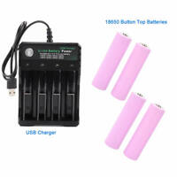 4X18650 Battery 2600mAh 3.7V Li-ion Rechargeable Batteries + USB Smart Charger