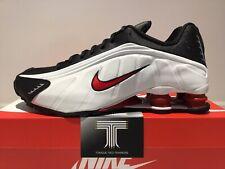 Nike Shox R4 ~ Platinum White/University Red ~ 104265 050 ~ Uk Size 9