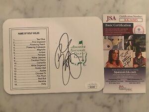 Rickie Fowler Signed Masters Golf Tournament Scorecard Autographed JSA COA AUTO