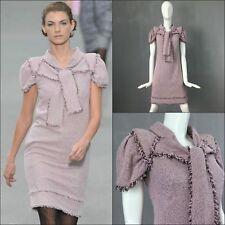 $4000 Chanel Baby Pink Lurex LESAGE TWEED Day Cocktail Dress Size S FR38 US 4 6