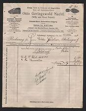 CALLENBERG, Rechnung 1906, Wirkwaren-Fabrik Otto Geringswald Nachf.