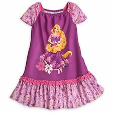 Disney Store Rapunzel Floral Nightgown with Cap Sleeves Girls, Size 7-8
