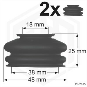 Ball joint rubber boot dust cover universal 2 x 18/38/25 track rod end Car Van