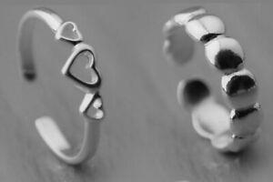 Genuine 925 Sterling Silver Adjustable Stacking Midi Ring Toe Knuckle Top Finger