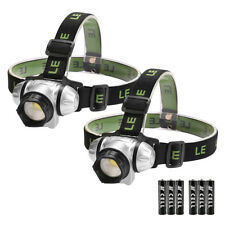 2 Pack LED Headlamp Flashlight for Running, Camping, Reading, Batteries Included