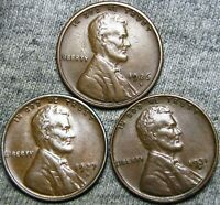1926-S 1927-D 1931-D Lincoln Wheat Cents -- NICE LOT -- #B704