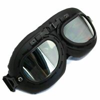 Retro Vintage Pilot Aviator Goggles Motorcycle For Harley Racer Cruiser Tinted