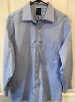 Brooks Brothers All Cotton Mens Dress Shirt Size 16 32/33 Blue non-iron LARGE