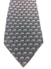 THE NATURE CONSERVANCY MENS TIE GREEN BLUE BROWN WITH CRABS 4 X 61