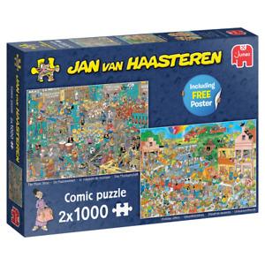 Jumbo 20049 Jan van Haasteren Musikgeschäft & Urlaubsvorfreude 2x1000 T Puzzle