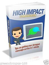 High Impact Communication Ebook or Cd and resell rights +