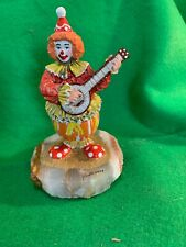 Ron Lee Banjo Clown Signed 2003 347/750 Mint Condition