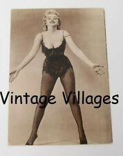 Vintage Marilyn Monroe Bodysuit Fish Net Postcard