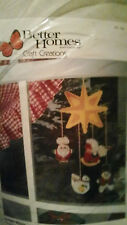 RARE BETTER HOMES&GARDENS CRAFT CREATIONS CHRISTMAS MOBILE #18061 CANVAS KIT