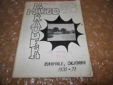 ORIGINAL 1970-1971 MANGO SCHOOL YEARBOOK/ANNUAL/JOURNAL/SUNNYVALE, CALIFORNIA