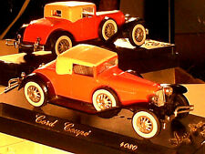 CORD COUPE/CABRIOLET  ANNEES 1930 / SOLIDO 1990 ROUGE ORANGE