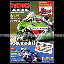 MOTO JOURNAL N°1131 YAMAHA FZR 1000, KAWASAKI KLE 500 ★ 24 HEURES DU MANS 1994 ★