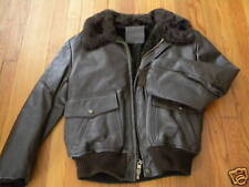 1970'S MEN'S BROWN BOMBER STYLE LEATHER JKT SZ 42 NEW