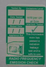 100 Durable Microwave Emissions Test PASS, PAT Labels