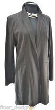 Jones New York NEW Black Long Sleeve 1-Button Long sweep Blazer Jacket Coat SZ M