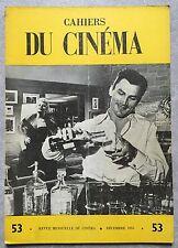 CAHIERS DU CINEMA n°53 LE GRAND COUTEAU Big Knife ROBERT ALDRICH 1955 *