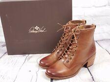 NIB - Patricia Nash Lace-Up Combat Boots Booties - Sergio - Tan - Brown - Sz 8 M