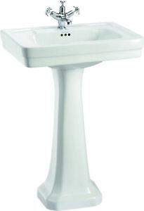 Burlington Contemporary Medium Basin & Pedestal B1 & P1 With/Without Towel Rail