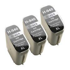 3 BLACK 940 940XL New ink cartridge for HP Officejet 8000 8500 Premium printers