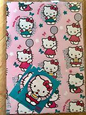 Hello Kitty Cumpleaños Globo Papel De Embalaje (Inc 2 Hojas & 2 etiquetas)