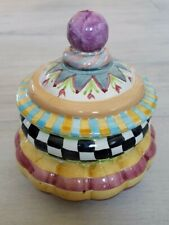 Mackenzie-Childs Taylor Cookie Jar Canister Odd Fellows