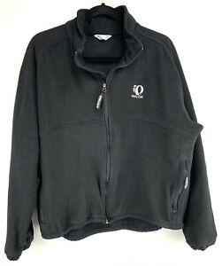 Pearl Izumi Fleece Full Zip Jacket Black Size M Medium Made In USA 4550
