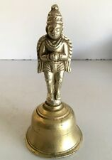 1890's Antique Old Brass Hand Carved Very Rare Hindu Lord Garuda Statue Bell