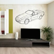PORSCHE 944 CAR CONVERTABLE vinyl wall art room sticker decal vehicle garage