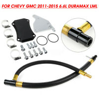 For 2011-15 Chevy GMC 6.6L Duramax LML Car EGR Valve Cooler Delete Kit Diesel