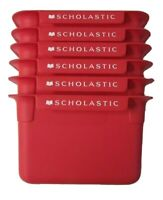 Scholastic Classroom Library Book Bin Red 9W x 13.5L x 5D