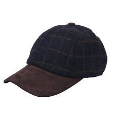 4e34a28610838 Heritage Traditions Womens Mens Blue Tweed Suede Baseball Casual Skip Cap  Hat
