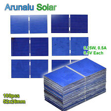 100pcs 52x26mm Solar Cells for DIY Poly Solar Panel Battery Charger High Power++