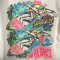 Vintage 80's Surf Gear T Shirt SZ L Neon Single Stitch Red Hot Surf