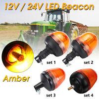 LED lampeggiante ambra Beacon DIN Pole Mount trattore strobo spia di  /