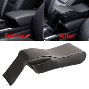 ​PU Leather Car Armrest Pad Memory Foam Center Console Box Cover w/ Phone Pocket